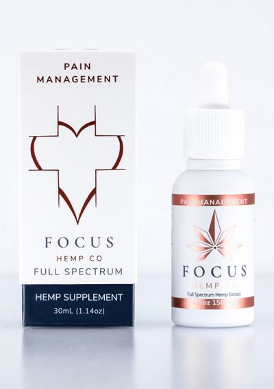 Pain Management CBD tincture by Focus Hemp Co