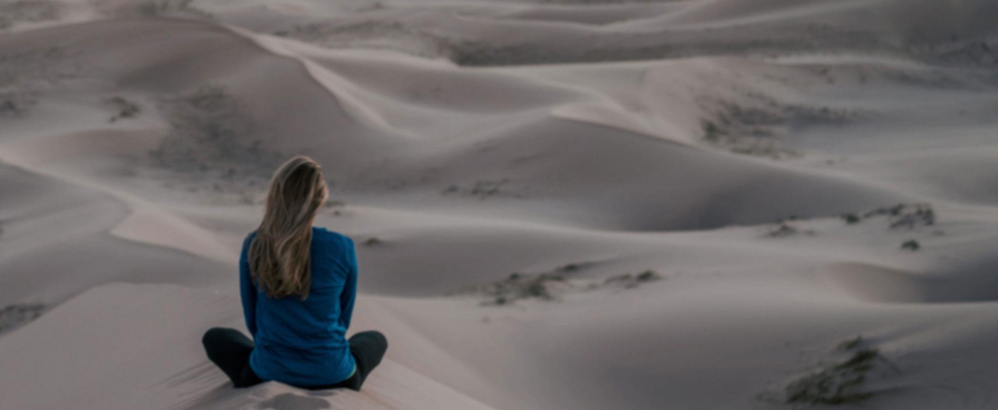 Calm meditation in the desert