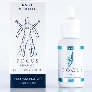 Full spectrum Daily Vitality CBD tincture