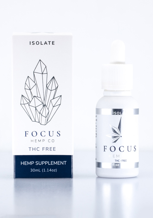 THC free CBD Isolate by Focus Hemp Co